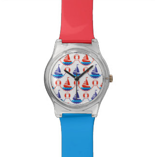 Sail Boat Pattern Watch