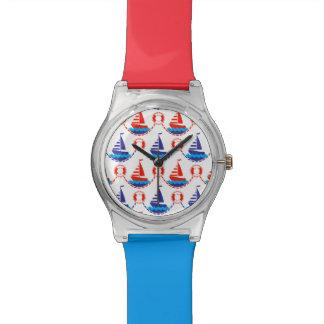 Sail Boat Pattern Wrist Watches