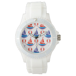 Sail Boat Pattern Wristwatches