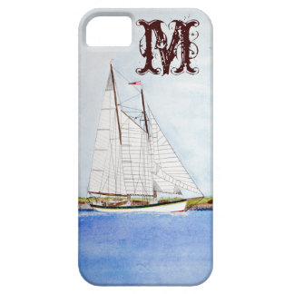 Sail Boat Sailing Ship Ocea Monogram IPHONE 5 Case