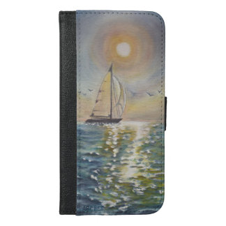 Sail Boat Sea&Sun iPhone 6/6s Plus Wallet Case