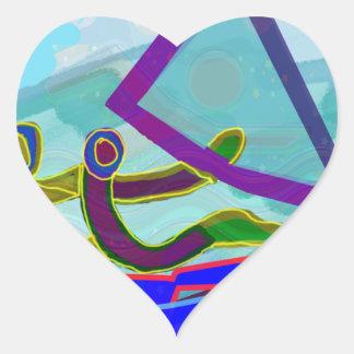 Sail Boat Water Sports Heart Sticker
