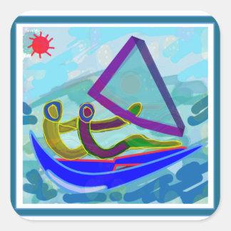 Sail Boat Water Sports Square Sticker