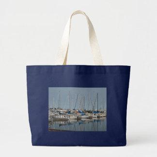 Sail Boat.Yachts Large Tote Bag