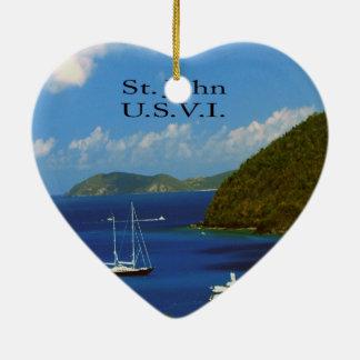 Sail boats christmas ornament