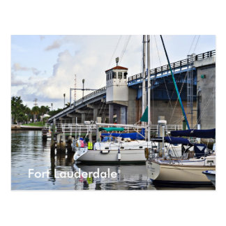 Sail Boats Docked, Fort Lauderdale Postcards