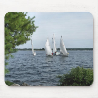 Sail Boats on the St Lawrence Mouse Mat