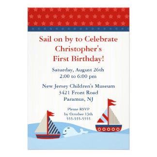 Sail on by Celebrate Birthday Invitation