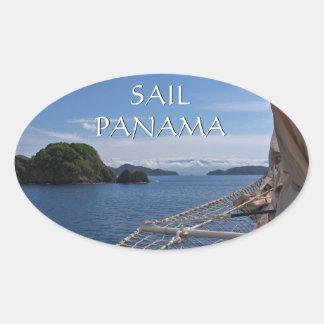 Sail Panama Seascape Sticker