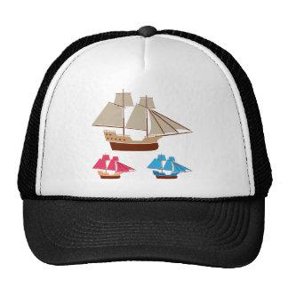Sail ship vector vintage cap