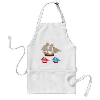 Sail ship vector vintage standard apron