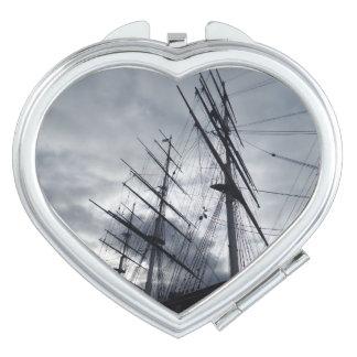 Sail Shrouds  Heart Compact Mirror
