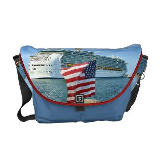 Sailaway Blue Messenger Bags