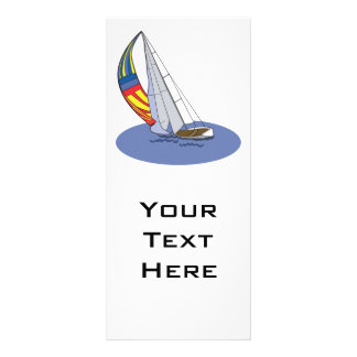 sailboat 10 cm x 23 cm rack card