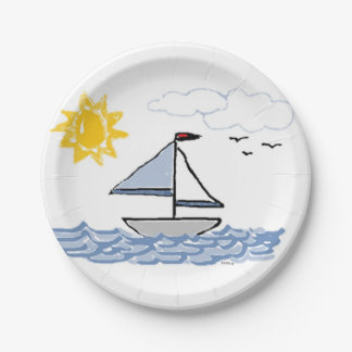 SAILBoat 7 Inch Paper Plate
