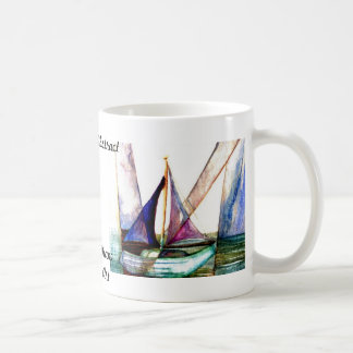 Sailboat Abstract - CricketDiane Ocean Art Coffee Mug