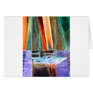 Sailboat Abstract Intangible Sailing Decor Gifts Greeting Card