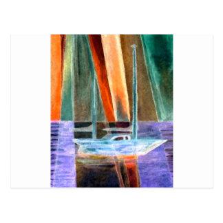 Sailboat Abstract Intangible Sailing Decor Gifts Postcard