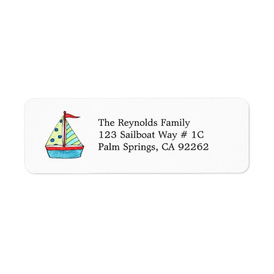 Sailboat Address Labels