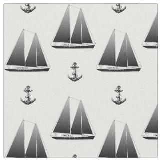 Sailboat And Anchor Fabric