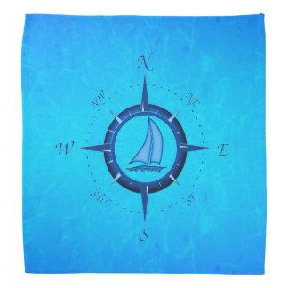 Sailboat And Compass Rose Bandana