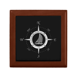 Sailboat And Compass Rose Gift Box