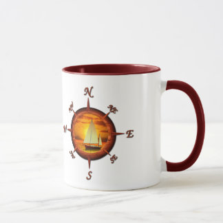 Sailboat And Compass Rose Mug