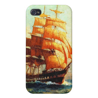 Sailboat and ocean steamers iPhone 4 cover