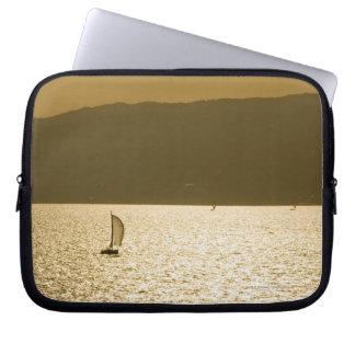 Sailboat at Mediterranean Sea Laptop Sleeve