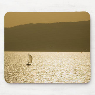 Sailboat at Mediterranean Sea Mouse Mat