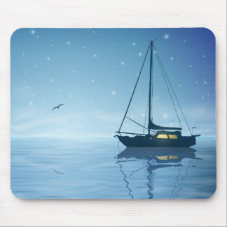 Sailboat at Night Mouse Pad