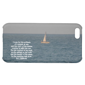 Sailboat at Sea-with Sailing quote iPhone 5C Cases