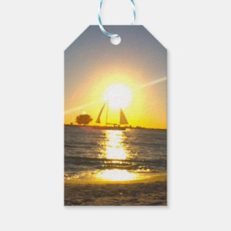 Sailboat at Sunset Gift Tags