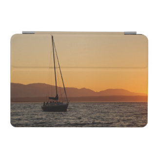 Sailboat At Sunset On The Puget Sound iPad Mini Cover