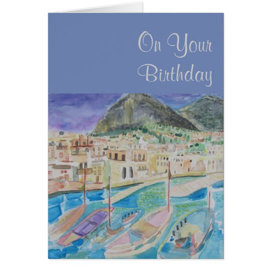 Sailboat Birthday Greetings Card