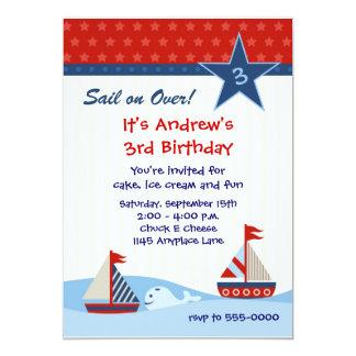 Sailboat Birthday Invitation
