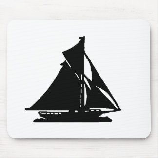 Sailboat Black lg-transp Vero Beach The MUSEUM Zaz Mouse Pad