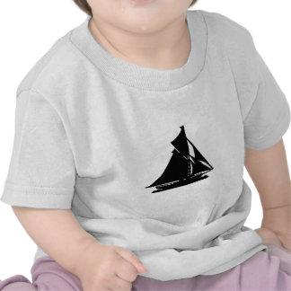 Sailboat Black lg-transp Vero Beach The MUSEUM Zaz T Shirts