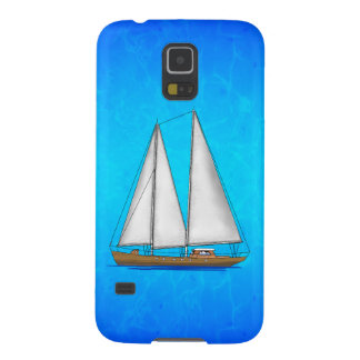 Sailboat Blue Waters Galaxy S5 Cover