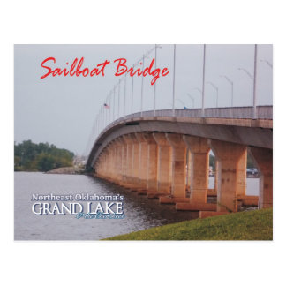 Sailboat Bridge Grove Oklahoma post card 2