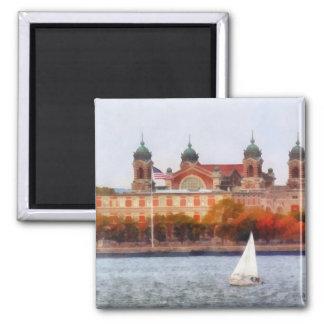 Sailboat by Ellis Island Fridge Magnet