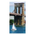 Sailboat by the Brooklyn Bridge Photo Card Template