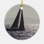 Sailboat & Catalina Island Ornament