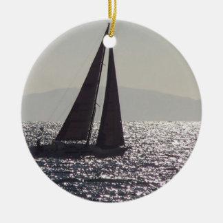 Sailboat & Catalina Island Ornament