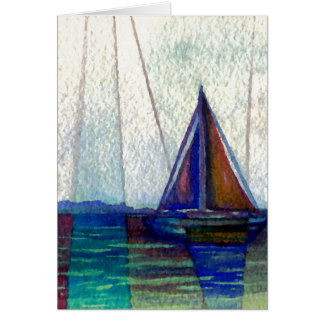 """Sailboat""  CricketDiane Ocean Art Card"