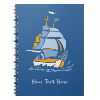 Sailboat custom notebook