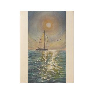 "SailBoat Custom Wood Poster, 19"" x 14.5"" Wood Poster"