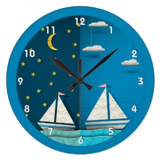 Sailboat Day Night Clock