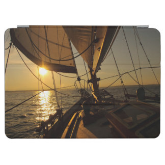 Sailboat Deck, Heading Into Setting Sun iPad Air Cover