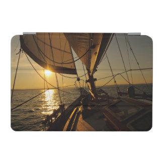 Sailboat Deck, Heading Into Setting Sun iPad Mini Cover